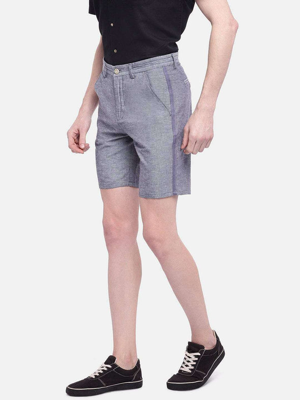 Men's Cotton Linen Indigo Regular Fit Shorts Cottonworld Men's Shorts