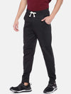 Men's Cotton Polyster Anthra Mel Regular Fit Kpants Cottonworld Men's Pants