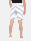 Men's Cotton White Regular Fit Shorts Cottonworld Men's Shorts