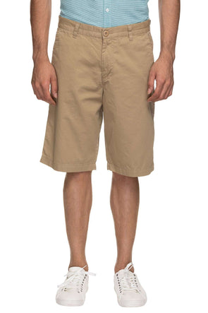 Mens Cotton Khaki Solid Shorts Cottonworld Men's Shorts