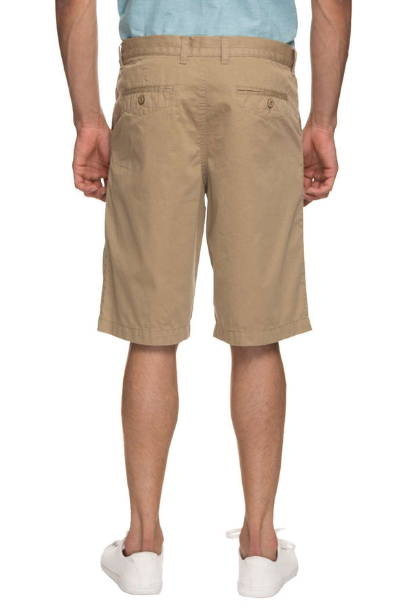 Cottonworld Men's Shorts MENS 100% COTTON  KHAKI SOLID SHORTS