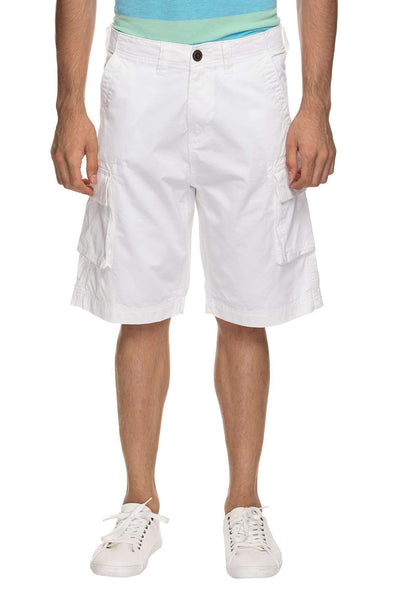 Cottonworld Men's Shorts MENS 100% COTTON  WHITE SOLID SHORTS