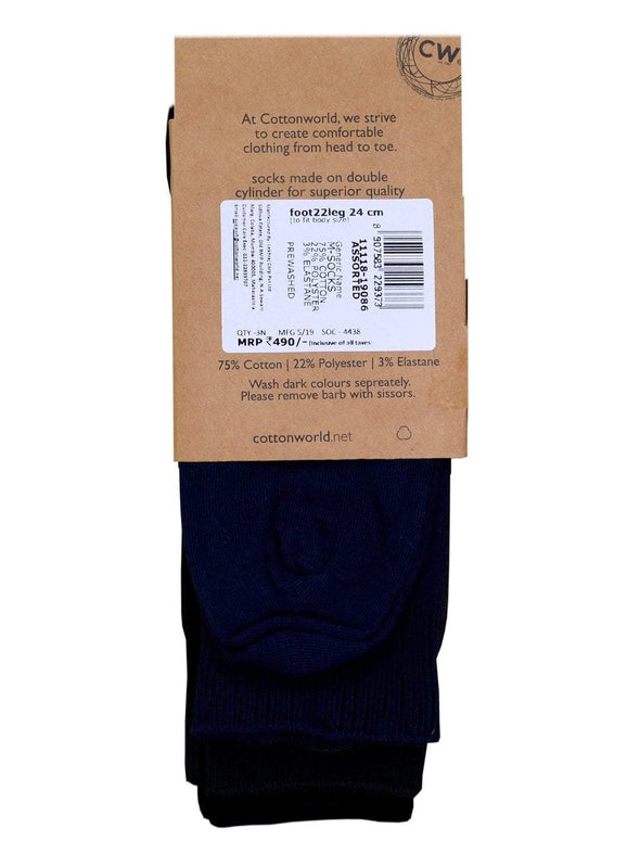 Men's Cotton Assorted Regular Fit Socks Cottonworld Men's Socks