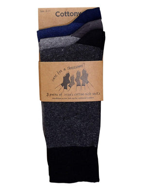 Cottonworld Men's Socks 24 / ASSORTED Men's Cotton Assorted Regular Fit Socks
