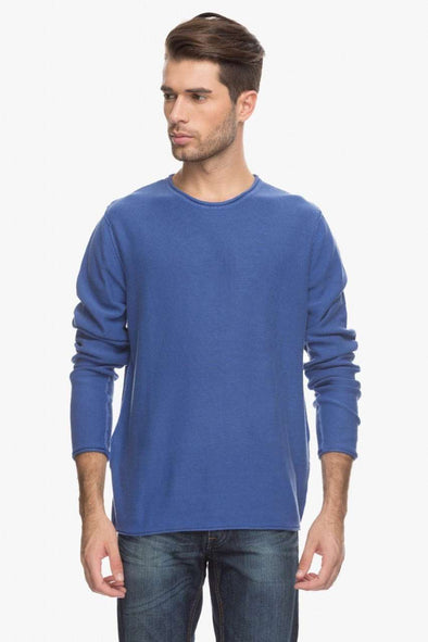 Men Blue Sweater Cottonworld Men's Sweaters