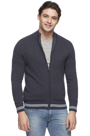 Cottonworld Men's Sweaters MEN'S 100% COTTON DK BLUE REGULAR FIT SWEATER