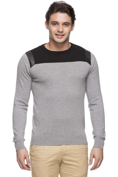Men's Cotton Grey Melan Regular Fit Sweater Cottonworld Men's Sweaters