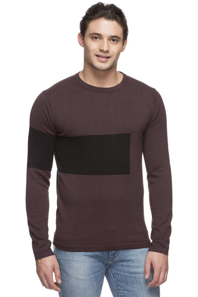 Men's Cotton Purple Regular Fit Sweater Cottonworld Men's Sweaters