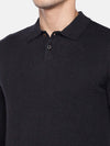 Men's Cotton Charcoal Regular Fit Sweat Cottonworld Men's Sweaters
