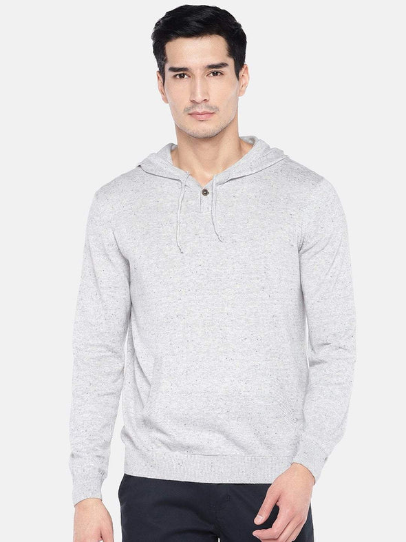 Men's Cotton Grey Regular Fit Sweat Cottonworld Men's Sweaters