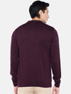 Men's Cotton Wine Regular Fit Sweat Cottonworld Men's Sweaters