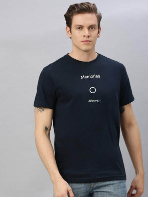 Cottonworld Men's T-shirts Men's Cotton Navy Regular Fit Tshirt