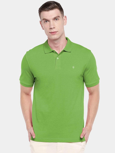 Men's 100% Cotton Knit Green Regular Fit Tshirt Cottonworld Men's Tshirts