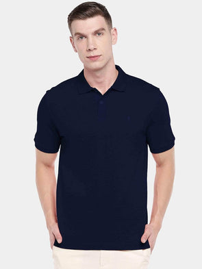 Men's 100% Cotton Knit Navy Regular Fit Tshirt Cottonworld Men's Tshirts