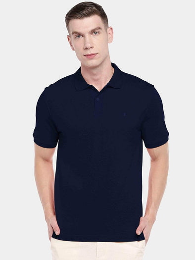 Men's 100% Cotton Knit Navy Regular Fit Tshirt Cottonworld Men's Tshirt