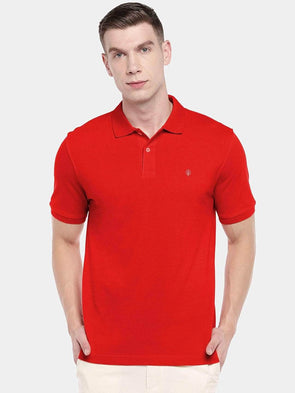 Men's 100% Cotton Knit Red Regular Fit Tshirt Cottonworld Men's Tshirts
