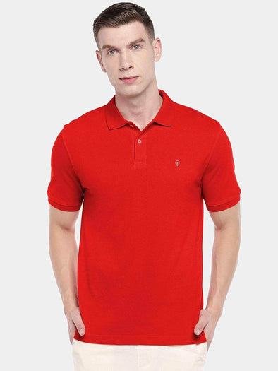 Men's 100% Cotton Knit Red Regular Fit Tshirt Cottonworld Men's Tshirt