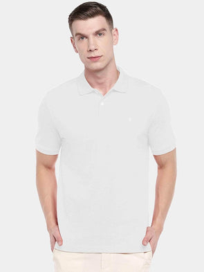 Men's 100% Cotton Knit White Regular Fit Tshirt Cottonworld Men's Tshirts