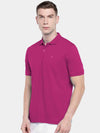 Men's 100% Cotton Knit Wine Regular Fit Tshirt Cottonworld Men's Tshirt