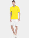 Men's 100% Cotton Knit Yellow Regular Fit Tshirt Cottonworld Men's Tshirt