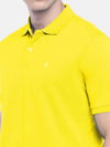Men's 100% Cotton Knit Yellow Regular Fit Tshirt Cottonworld Men's Tshirts