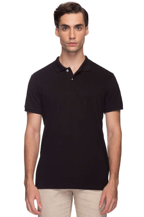 Cottonworld Men's Tshirts Men Black Regular Cotton T-Shirts