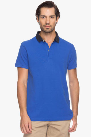 Cottonworld Men's Tshirts Men Blue Polo T-Shirt