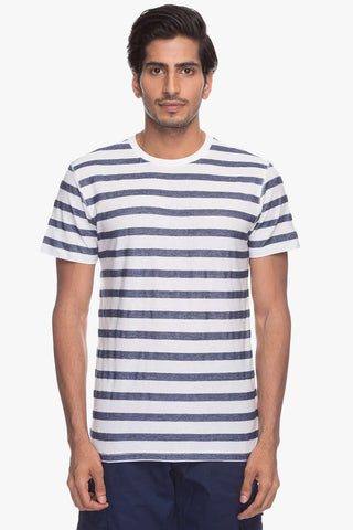 Cottonworld Men's Tshirts Men Dk Blue Regular T-Shirts