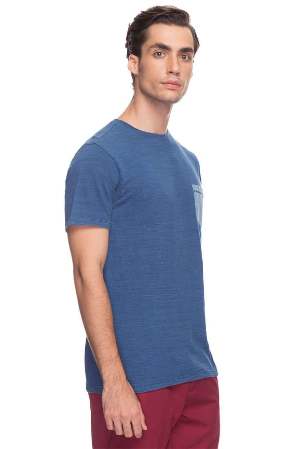 Cottonworld Men's Tshirts Men Indigo Regular Cotton T-Shirts