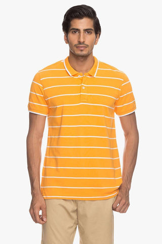 Cottonworld Men's Tshirts Men Orange Regular T-Shirts
