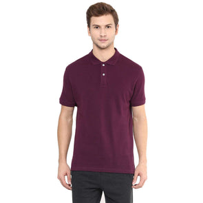 Cottonworld Men's Tshirts Men Purple Regular T-Shirts