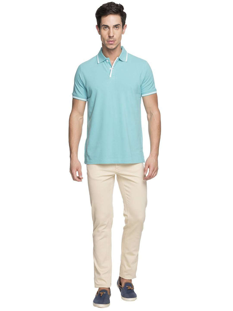 Cottonworld Men's Tshirts MEN'S 100% COTTON AQUA REGULAR FIT TSHIRT