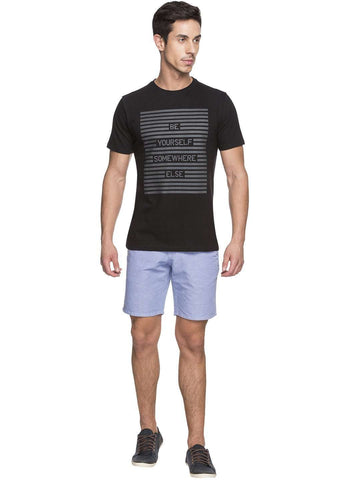 Cottonworld Men's Tshirts MEN'S 100% COTTON BLACK TSHIRT