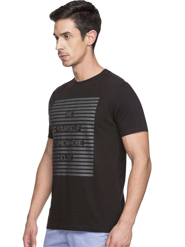 Men's Cotton Black Tshirt Cottonworld Men's Tshirts