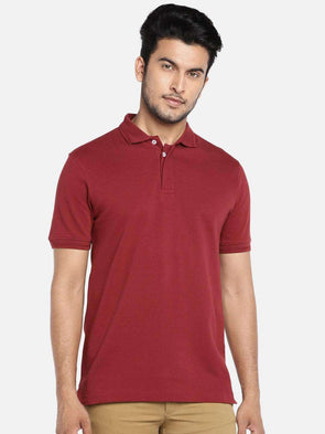 Cottonworld Men's Tshirts MEN'S 100% COTTON CINNAMON REGULAR FIT TSHIRT