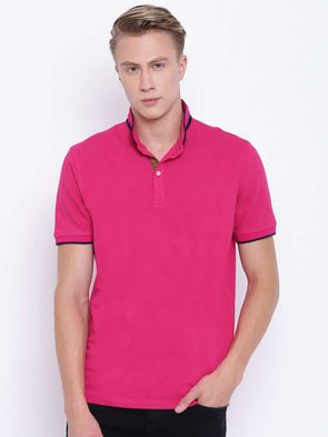Men's Cotton Cranberry Regular Fit Tshirt Cottonworld Men's Tshirts
