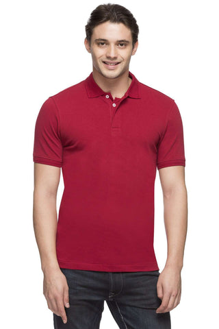 Cottonworld Men's Tshirts MEN'S 100% COTTON DARK RED REGULAR FIT TSHIRT