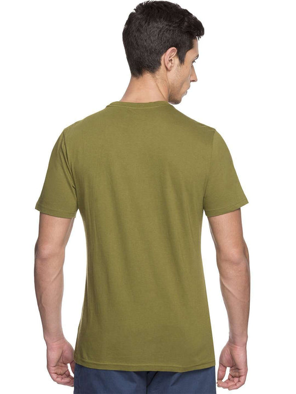 Cottonworld Men's Tshirts MEN'S 100% COTTON GREEN TSHIRT