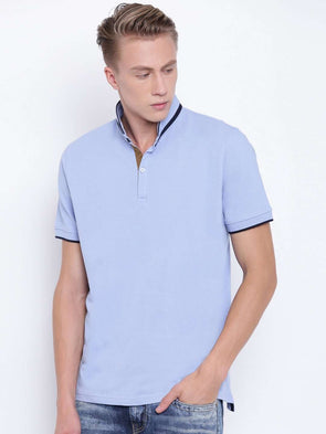 Men's Cotton Light Blue Regular Fit Tshirt Cottonworld Men's Tshirts