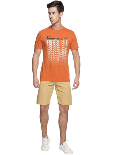 Men's Cotton Orange Tshirt Cottonworld Men's Tshirts