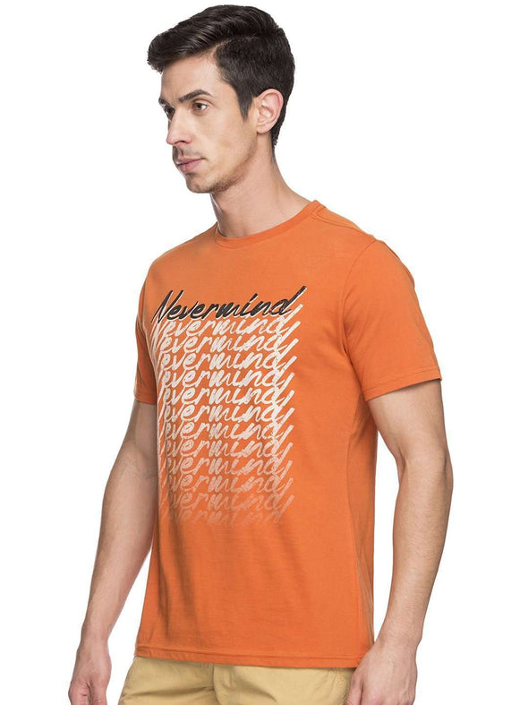 Cottonworld Men's Tshirts MEN'S 100% COTTON ORANGE TSHIRT