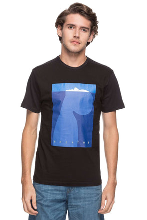 Cottonworld Men's Tshirts MEN'S 100% COTTON PRINT BLACK REGULAR FIT TSHIRT