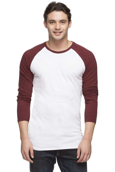 Cottonworld Men's Tshirts MEN'S 100% COTTON RED REGULAR FIT TSHIRT
