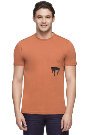 Cottonworld Men's Tshirts MEN'S 100% COTTON RUST TSHIRT