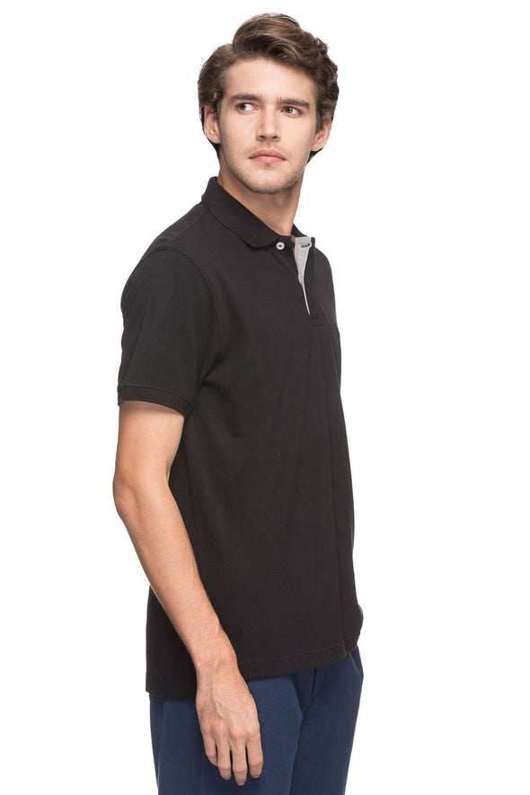 Cottonworld Men's Tshirts MEN'S 100% COTTON SOLID BLACK REGULAR FIT TSHIRT