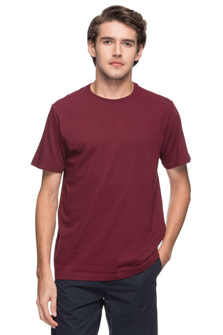 Cottonworld Men's Tshirts MEN'S 100% COTTON SOLID BURGANDY REGULAR FIT TSHIRT