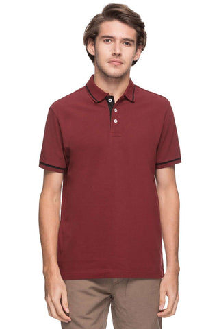Cottonworld Men's Tshirts MEN'S 100% COTTON SOLID CINNAMON REGULAR FIT TSHIRT