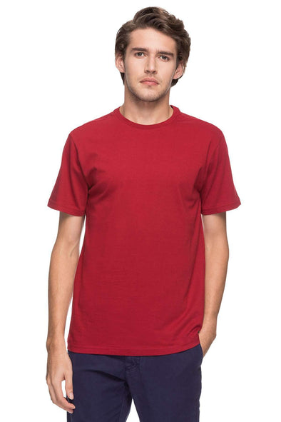 Cottonworld Men's Tshirts MEN'S 100% COTTON SOLID DK.RED REGULAR FIT TSHIRT