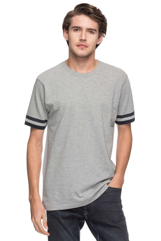 Cottonworld Men's Tshirts MEN'S 100% COTTON SOLID GREY MELAN REGULAR FIT TSHIRT
