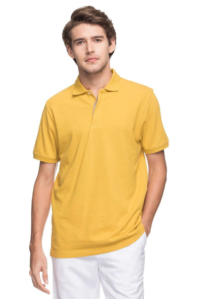 Cottonworld Men's Tshirts MEN'S 100% COTTON SOLID MUSTARD REGULAR FIT TSHIRT